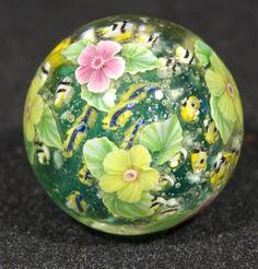 """Ayako Hattori """"Water Lillies"""" Art Glass Marble #Glass"""