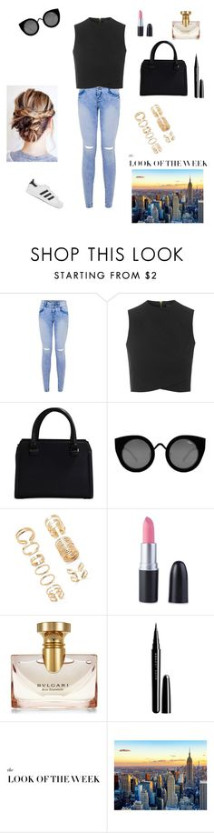 """""""Untitled #212"""" by andi-flick125 ❤ liked on Polyvore featuring Topshop, Victoria Beckham, Quay, Forever 21, Bulgari, Marc Jacobs and adidas Originals"""