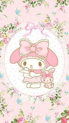 My Melody Kawaii Background Wallpaper Sanrio Hello Kitty