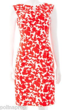 Love the vintage look here in this Milly New York Peggy Secretary Notch Batik Print Dress