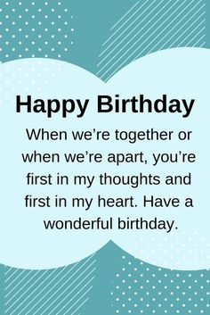 Are you looking for a special way to say 'Happy Birthday' to your girlfriend? If so, these happy birthday quotes for her are perfect for some inspiration. Happy Birthday Quotes For Her, Birthday Quotes For Girlfriend, Birthday Greetings For Boyfriend, Birthday Wishes For Lover, Birthday Message For Boyfriend, Birthday Wish For Husband, Birthday Wishes For Myself, Wife Birthday, Romantic Birthday Wishes