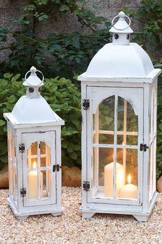 Wood & Metal Lantern - Set of 2 on @HauteLook