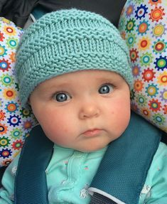 Baby Beanie Ravelry: Baby Beanie pattern by Lisa Seifert :: DoleValleyGirlKnits Knitting , lace processing is just about the m. Baby Hat Knitting Patterns Free, Baby Hat Patterns, Baby Hats Knitting, Knitting For Kids, Loom Knitting, Free Knitting, Knitting Projects, Crochet Patterns, Free Pattern