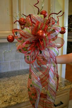 Christmas Bow tree topper #Christmas #treetopper