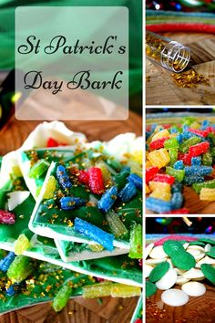 St Patrick's Day is around the corner, so I thought it would be fun to create some St Patrick's Day Bark.