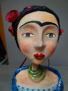 Frida - Paper mache doll