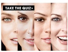 Take The Quiz and find out which skin care products are right for you.