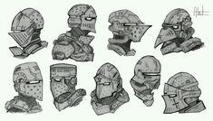 Sci Fi Knight Helmets