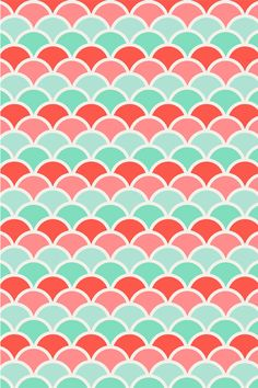 pink, coral, mint and sea green scales pattern Ipod Wallpaper, Pattern Wallpaper, Cute Pattern, Pattern Design, Ipod Backgrounds, Free Photoshop Patterns, Cute Backrounds, Paper Scrapbook, Polka Dot Background
