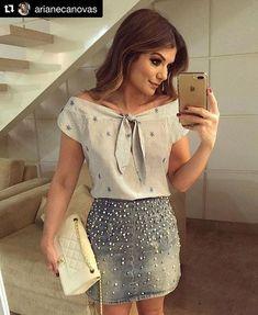 repost arianecanovas get_repost ・・・ look Diy Fashion, Fashion Clothes, Ideias Fashion, Fashion Looks, Fashion Outfits, Womens Fashion, Sneakers Fashion, Dresses For Teens, Casual Dresses