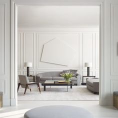 The new sleek and minimalist pieces of the THOMAS PHEASANT Collection for Baker Furniture enhances his existing collections with a precise… Modern Classic Interior, Best Interior, Interior Design, Classic Furniture, American Interior, Classic Living Room, Bedroom Classic, Baker Furniture, Office Furniture