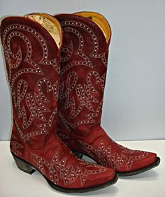 Old Gringo Lauren Stud Red Boots L1099-1 Picture
