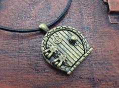 The hobbit jewelry door locket necklace
