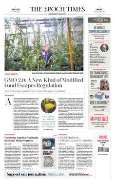 GMO 2.0: A New Kind of Modi ed Food Escapes Regulation|The Epoch Times #newspaper #editorialdesign