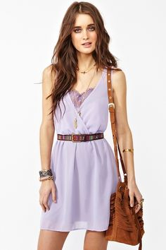 Sugar Rush dress in lilac. :) Love the lace detail! #NastyGal