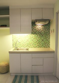 Small space ideas for a 23sqm condo small living Condo kitchen design philippines