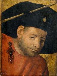 Hieronymus Bosch, Cabeza de un ballestero; Óleo sobre tabla, 28x20cm. Madrid, Museo del Prado.