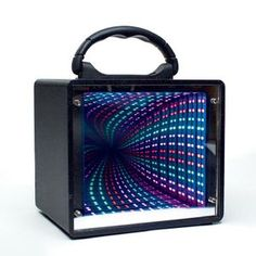 Portable Music Player Speaker Box With Light Pattern Effect Available To Buy Now From Prezzybox at Infinity Light Box Speaker In Stock With Fast, UK Delivery. Chill Out Room, Infinity Lights, Special Needs Toys, Technology Gifts, Mirror Effect, To Infinity And Beyond, New Toys, Gifts Uk, Sensory Play
