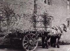 William Morris' rustic funeral cart, October 1896