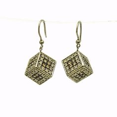 18K White Gold Cubique Diamond Earring by Mondi47 on Etsy, $1850.00