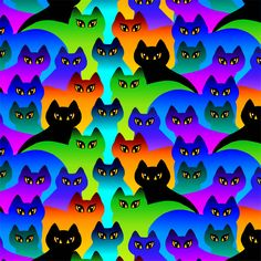 Rainbow Cats by Dan Morris | DecalGirl