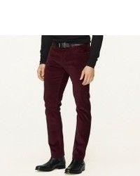 Dark Purple Corduroy Dress Pants for Men | Men's Fashion