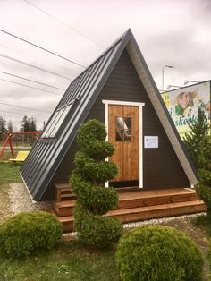 Affordable housing with a-frame kit homes Gartenhaus Idee, Kit Homes Uk, Cabin Kit Homes, Cabin Kits, A Frame House Kits, A Frame House Plans, Small House Kits, Tiny Cabins, Tiny House Cabin, Kit Homes Australia