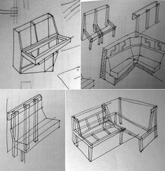 Monster post: Crap I've Built - Banquettes (poor man's couches) - Core77 Kitchen Banquette, Kitchen Seating, Diy Storage Couch, Banquette D Angle, Diy Bench Seat, Interior Styling, Interior Design, Woodworking Projects Plans, High Level