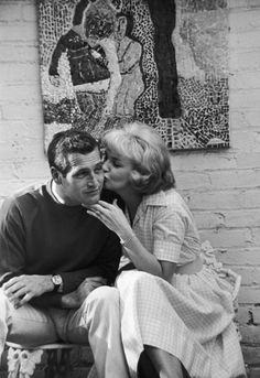 Paul Newman and Joanne Woodward at home, 1960s