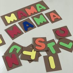 Teach kids how to spell words by matching these colored letters cards. ❗Link available on Romanian territory only. How To Spell Words, Rainbow Words, Spelling Games, Educational Crafts, Teaching Kids, Crafts For Kids, Letters, Link, Cards