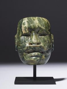 Mask, Mexican(Olmec Style) Medium-Jaseite, Ca. 500 BC.