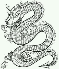 Colouring in dragon.