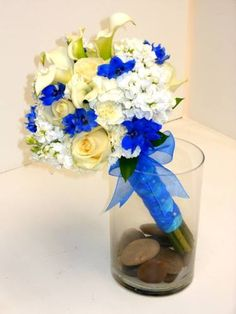 """Blue and white with """"ballerina laces"""" look on the handle! LOVE!"""