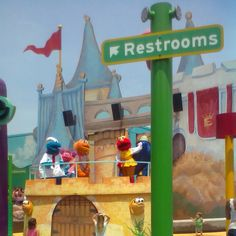 What a great photo of our friends in Busch Gardens! Sesame street place - Busch gardens, Virginia