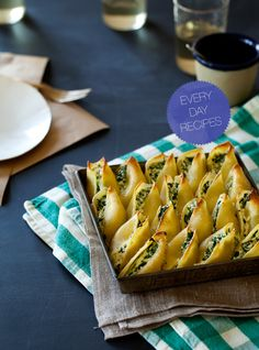 Spinach + ricotta stuffed shells. I've made these and they are amazing!