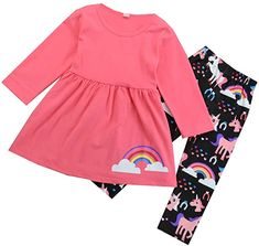 For Sale - 2020 New Cute Toddler Kids Girl Set Clothes Unicorn Long Sleeve Tops+ Floral Pants Outfits Set Clothes Set Floral Pants Outfit, Rainbow Outfit, Rainbow Clothes, Cheap Girls Clothes, Baby Girl Winter, Cute Toddlers, Toddler Dress, Outfit Sets, Shirts For Girls