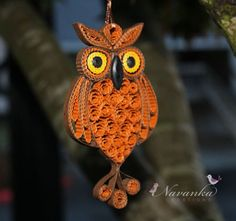 Owl B there for you :)                 Adorable Paper Quilling Owl Ornament in a gift box. $24.99, via Etsy.