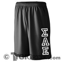 TGI Greek Tshirts - Sigma Alpha Epsilon - Letter Shorts