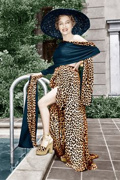 """Gloria Swanson in """"Sunset Boulevard,"""" 1950.    Photo by Courtesy Everett Collection   Spotted!: #Leopard Print Through the Years - WWD.com"""