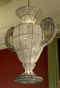 Rock and Royal is one of modern companies that design custom chandeliers. They are made with the finest Bohemian crystal and look magnificent.
