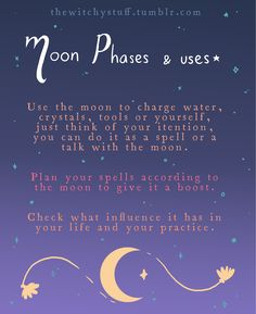 The Witchy Stuff — Witchy Moon*:・゚✧ A little guide on using the moon...