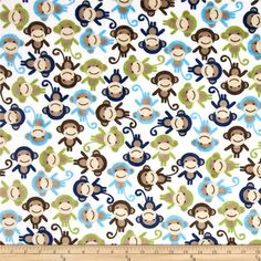 This Monkey Minky Baby Blanket with Ice Blue Minky Backing perfect for Peek-a-boo play, tummy time, tea time play, stroller blanket, sunshield and much more! The Top Fabric is made of 100% polyester. It is mostly white in color, super soft, cuddly and stylish covered in monkeys of all colors! Light Blue, Navy Blue and Light Sage Green. Bottom Fabric is a minky dot embossed fabric. Medium weight and super cuddly and soft. Color is Ice Blue. The size of this blanket is approximetly 29 x 36…