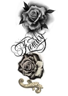 Black And Grey, Ipad, Photoshop, Tattoos, Story Inspiration, Flower, Log Projects, Ideas, Tattoo