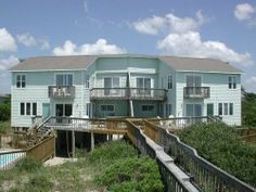 Rooms with a View West. Large 4 BR, 3 B Duplex with private oceanfront swimming pool and boardwalk to the beach. 7701 Ocean Drive