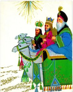 wise men on epiphany Christmas Star, 12 Days Of Christmas, Vintage Christmas, Christmas Crafts, We Three Kings, Kings Day, Houses Of The Holy, Three Wise Men, Epiphany