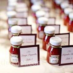 Cute idea!! Not so much for a winter wedding, maybe for bachelor party cookout or ketchup lovers?