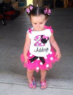 Minnie Mouse birthday outfit also available by LaineeJosTutusNBows