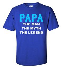 Papa The Man The Myth The Legend T-Shirt Men's by ShopLintyCat
