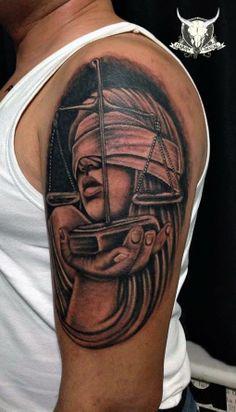 Lady justice tattoo tattoos pinterest lady justice for Tattoos of lady justice