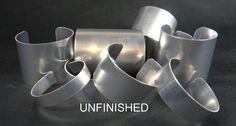 Mixed Dozen Aluminum Cuff Bracelet Blank- $12.50 Fantasybeading - etsy